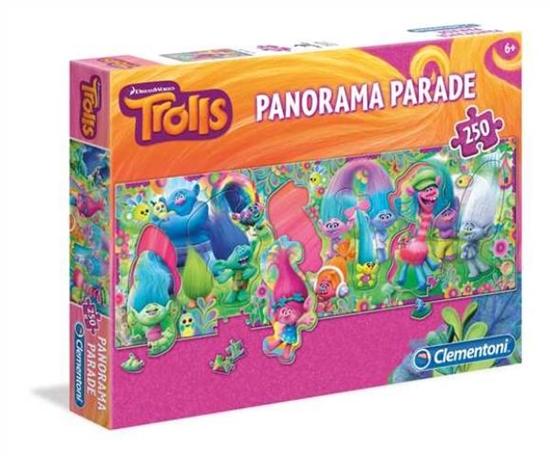 Clementoni Puzzle 250el Panorama Parade Trolle 29737 (29737 CLEMENTONI)