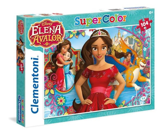 Clementoni Puzzle 104el Super Kolor Elena di Avalor 27981 (27981 CLEMENTONI)