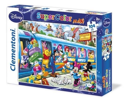 Clementoni Puzzle 104el Maxi Disney Pociąg 23650 (23650 CLEMENTONI)