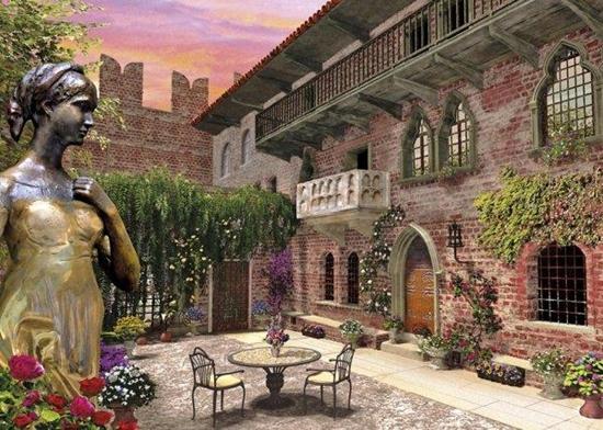 Clementoni Puzzle 1000el romantic Verona 39243 (39243 CLEMENTONI)