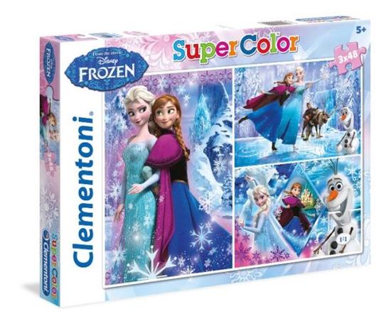 Clementoni Puzzle 3x48el Super Kolor Frozen 25204 (25204 CLEMENTONI)
