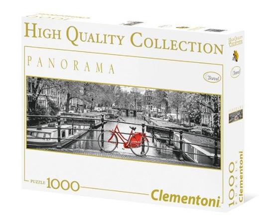 Clementoni Puzzle 1000el Panorama HQ Amsterdam Bicycle 39386 (39386 CLEMENTONI)