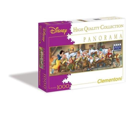 Clementoni Puzzle 1000el panorama Królewna Śnieżka 39004 (39004 CLEMENTONI)