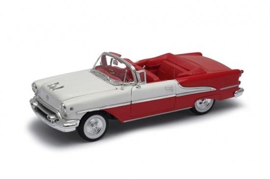 Model kolekcjonerski 1955 Oldsmobile Super 88 czerwono biały (GXP-719879)