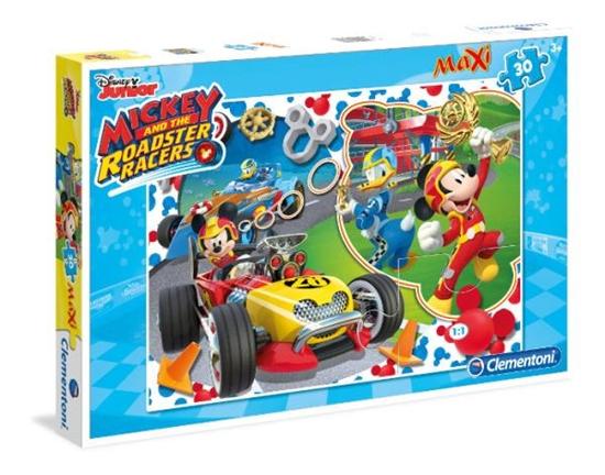 Clementoni Puzzle Maxi 30el  Mickey Roadster Racers 07435 (07435 CLEMENTONI)