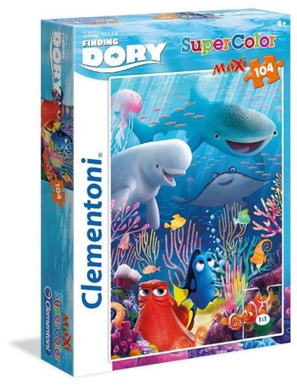 PROMO Clementoni Puzzle Maxi 104el Finding Dory 23986 (23986 CLEMENTONI)
