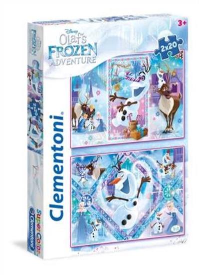 Clementoni Puzzle 2x20el - Olaf's Frozen Adventure 24752 (24752 CLEMENTONI)