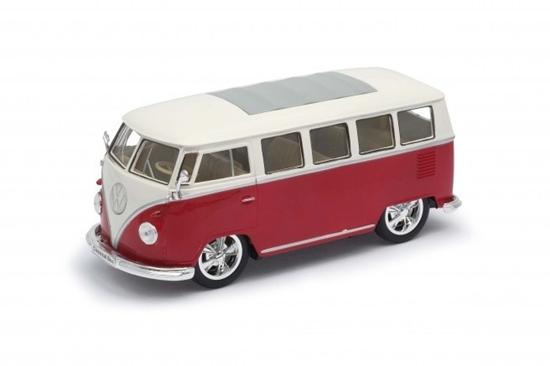 Model kolekcjonerski 1963 Volkswagen T1 Bus, czerwono-biały (GXP-720119)