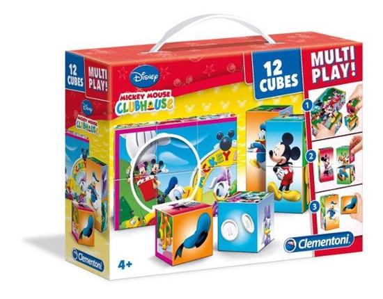 PROMO Clementoni Klocki 12 Multiplay Mickey Mouse Club House 41502 (41502 CLEMENTONI)