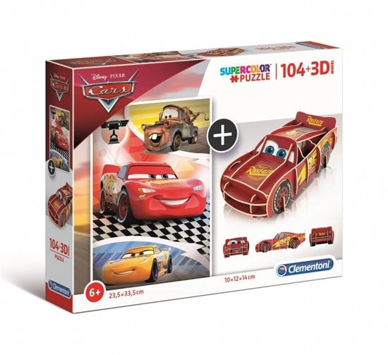 Puzzle 104 elementy + 3D Model Auta (GXP-702049)