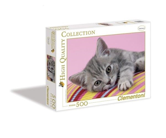 Clementoni Puzzle 500el Szary kotek 30362 (30362 CLEMENTONI)