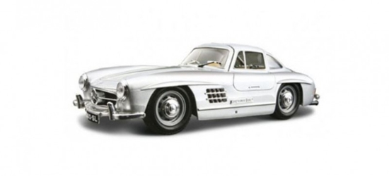 Model kolekcjonerski Mercedes-Benz 300 SL srebrny (GXP-719540)