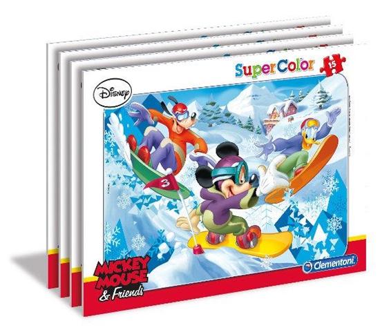PROMO Clementoni Puzzle 15el ramkowe Mickey sport p16 22222 (22222 CLEMENTONI)