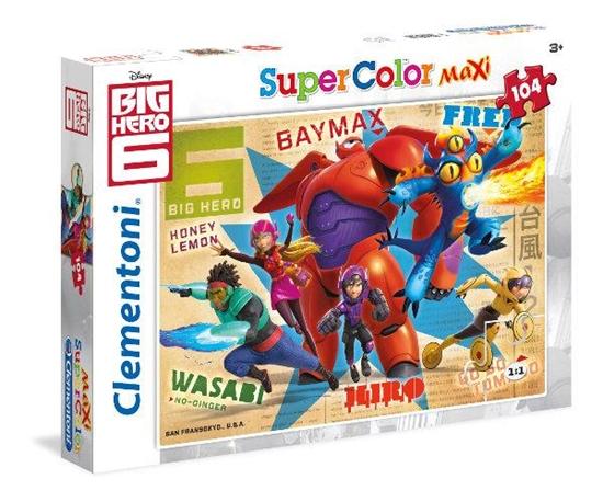 Clementoni Puzzle 104el Maxi BIG HERO 6 23672 (23672 CLEMENTONI)