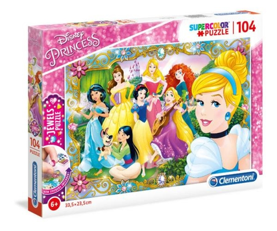 Puzzle 104 Jewels Princess (20147 CLEMENTONI)