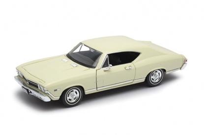 Model kolekcjonerski 1968 Chevrolet Chevelle SS396, kremowy (GXP-719915)