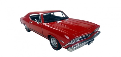 Model kolekcjonerski 1968 Chevrolet Chevelle SS396, czerwony (GXP-719916)