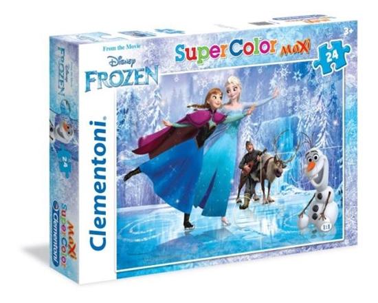 Clementoni Puzzle 24 el Maxi  Frozen - Ice Skating 24474 (24474 CLEMENTONI)