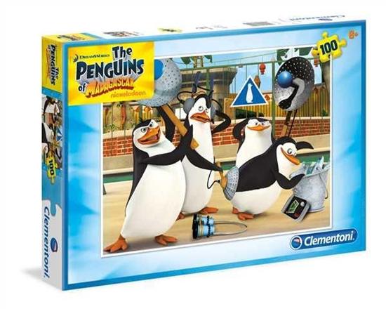 PROMO Clementoni Puzzle 100el. Pingwiny z Madagaskaru 07254 (07254 CLEMENTONI)