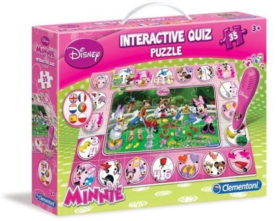 PROMO Clementoni Quiz interaktywny puzzle Minnie 13834 (13834 CLEMENTONI)
