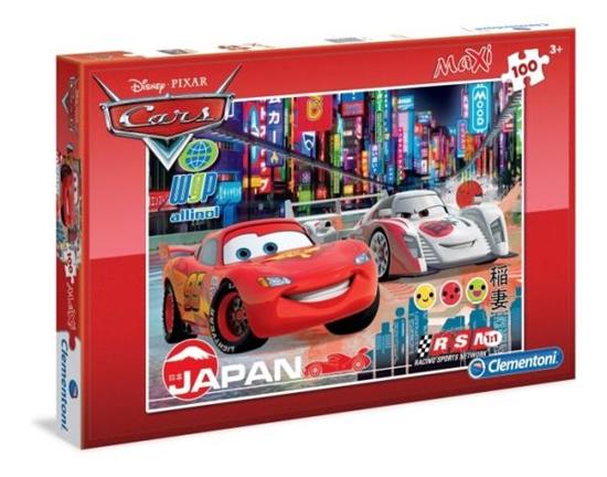 PROMO Clementoni Puzzle Maxi 100 el. SL Cars: Racing Rivals 07520 (07520 CLEMENTONI)