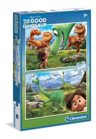 Clementoni Puzzle 2x20el Dobry Dinozaur 07022 (07022 CLEMENTONI)