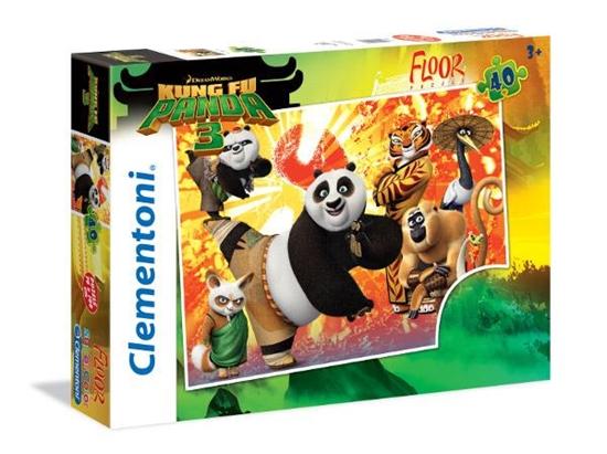 Clementoni Puzzle 40el podłogowe Kung Fu Panda III 25448 (25448 CLEMENTONI)