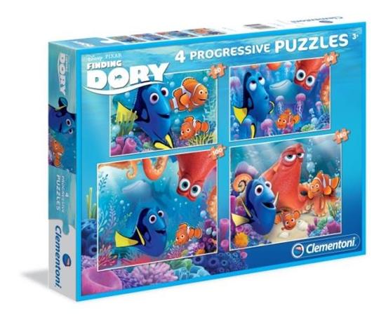 PROMO Clementoni Puzzle 20+60+100+180 el. SL Finding Dory 07712 (07712 CLEMENTONI)