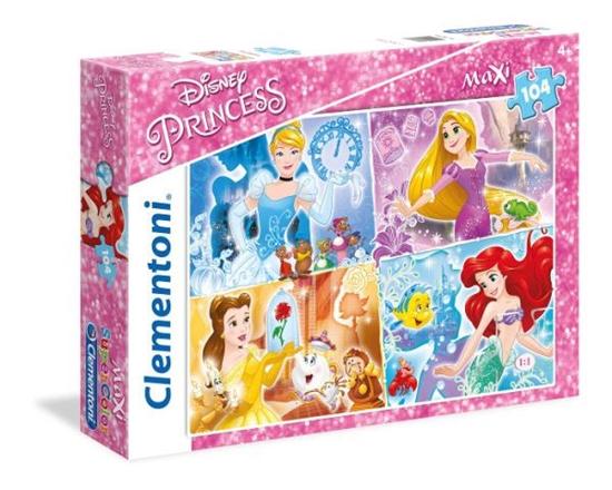 Clementoni Puzzle 104el Maxi Księżniczki 23703 (23703 CLEMENTONI)