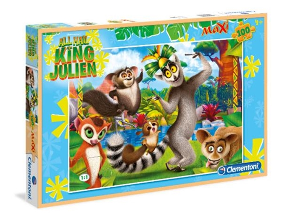PROMO Clementoni Puzzle Maxi 100 el. Król Julian 07523 (07523 CLEMENTONI)