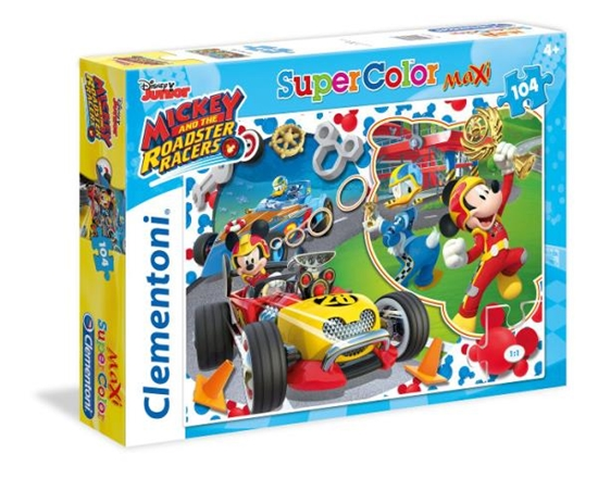 Clementoni Puzzle 104el Maxi Mickey Roadster Racers 23709 (23709 CLEMENTONI)