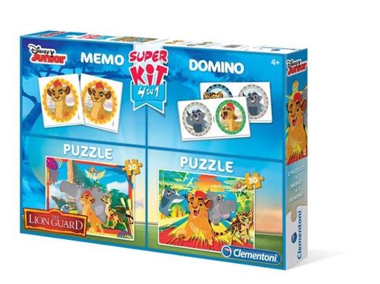 Clementoni Superkit 2x30el+Memo+Domino Lwia Straż 08212 (08212 CLEMENTONI)