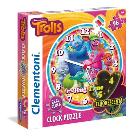 PROMO Clementoni Puzzle 96el Zegar Trolle 23028 (23028 CLEMENTONI)