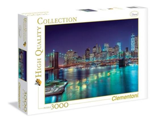 Clementoni Puzzle 3000 el HQ  New York in the night 33544 (33544 CLEMENTONI)