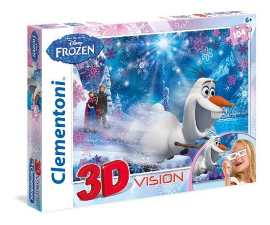 Clementoni Puzzle 104el 3D vision Frozen 20603 (20603 CLEMENTONI)