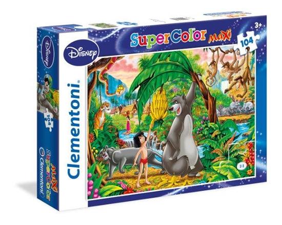 Clementoni Puzzle 104 el Maxi The Jungle Book 23670 (23670 CLEMENTONI)