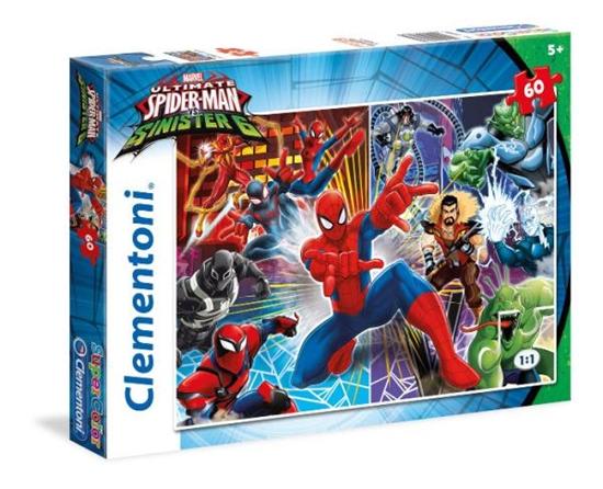 Clementoni Puzzle 60el Super Kolor Spiderman Sinister Six 26967 (26967 CLEMENTONI)