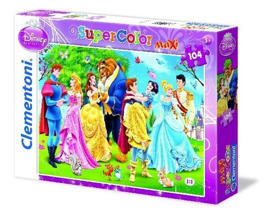 Clementoni Puzzle 104el Maxi Księżniczki 23656 (23656 CLEMENTONI)