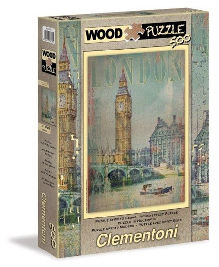 Clementoni Puzzle 500el drewniane Londyn 37035 (37035 CLEMENTONI)