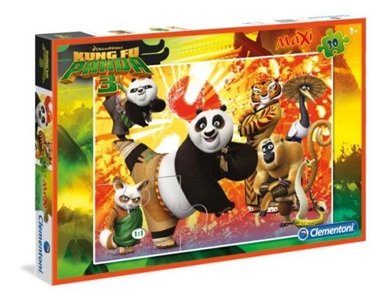 PROMO Clementoni Puzzle Maxi 30el Kung Fu Panda 3 07431 (07431 CLEMENTONI)