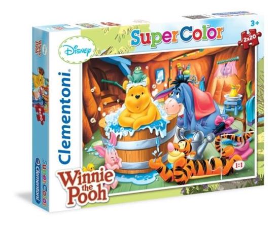 Clementoni Puzzle 2x20 el  Winnie The Pooh 24742 (24742 CLEMENTONI)