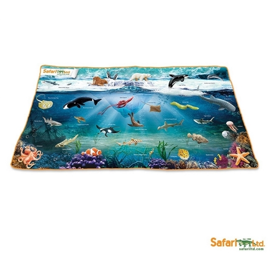 Safari Ltd 206629 Plansza Ocean ze zdjęciami 62x117cm