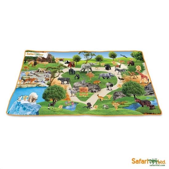 Safari Ltd 220329 Plansza Afryka ze zdjęciami 62x117cm