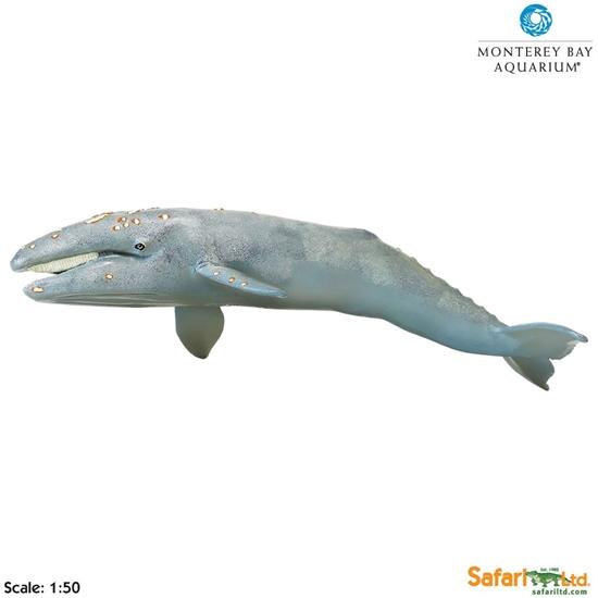 XL Safari Ltd  210402 Pływacz szary  1:50  32x11,6x8,5cm