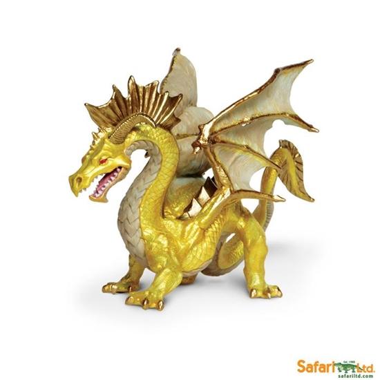 Safari Ltd 10118  Złoty smok  17x9x10,25cm