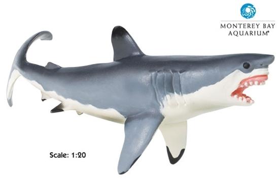 Safari Ltd 211202 Żarłacz biały - rekin  w skali 1:20 26x9cm