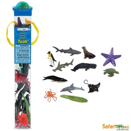 Safari Ltd 695104 Zwierzęta oceaniczne 12 szt. w tubie