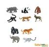 Safari Ltd 100109 Zagrożone gatunki zwierząt lądowych - 10szt. w tubie