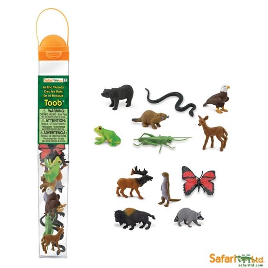 Safari 685504 zwierzęta leśne 12 sztuk w tubie