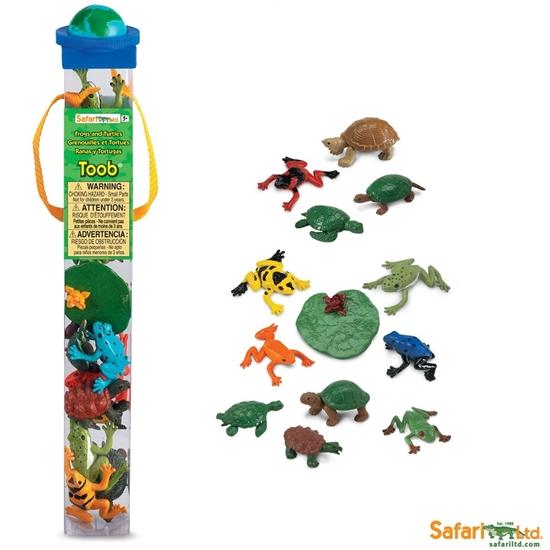 Safari Ltd 694804 Żaby i żółwie 13szt. w tubie 5x5x33cm